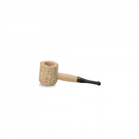 Cachimbo Missouri Corn Cob Mini Natural Reto - Pit Preta