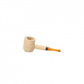 Cachimbo Missouri Corn Cob Mini Natural Reto - Pit Laranja