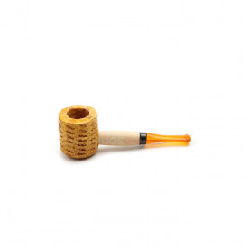 Cachimbo Missouri Corn Cob Mini Varnished Reto - Pit Laranja