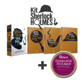 Kit com 3 Livros e Fumo Sherlock Holmes